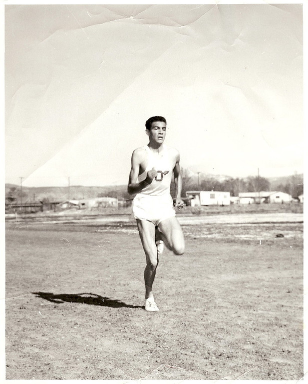 . Rick Trujillo at a Cross Country meet in Olathe, CO, circa October 1965. Photo provided by Rick Trujillo