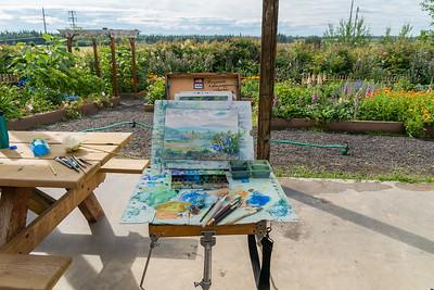 More Watercolors in the Garden