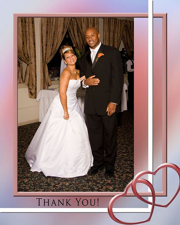 Janet & Brenden's Thank you card samples