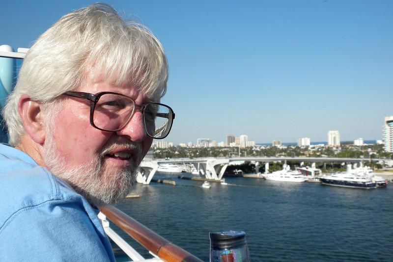 Frank overlooking the port