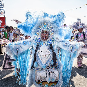 Buffalo Hunters, Wild Squatoulas and Wild Tchoupitoulas Mardi Gras Indians parade (Sun 5/7/17)