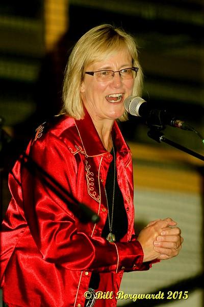Host Jackie Rae Greening of CFCW - Alberta Legends at Servus Place 006