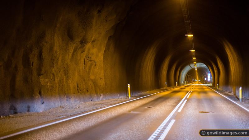 Inside the 7km tunnel near Ólafsfjörður. This heads to Siglufjörður.