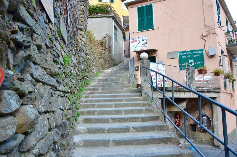 One of many uphill walks to the beautiful apartment(Sciacchetrà). Manarola