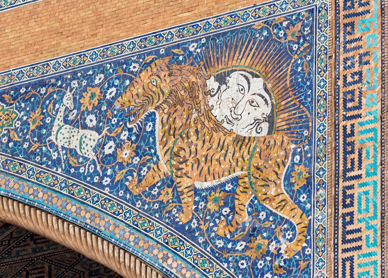 Sher-Dor Madrasah, Registan, Samarkand