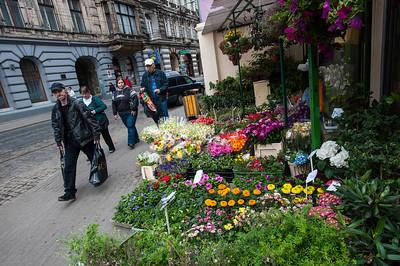 Street scene, Lodz, Poland