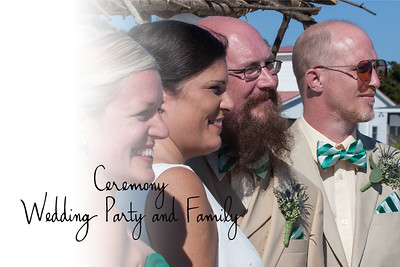 Slideshow for the Ceremony, and Formal wedding Party and Family