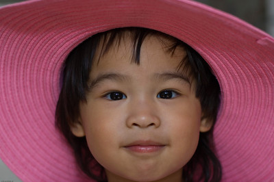 Belle in Pink Hat