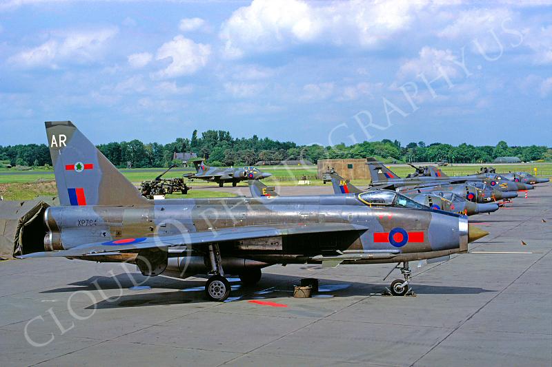 BAC Lightning 00007 BAC Lightning British RAF XP764 June 1983 by Wilfried Zetsche .JPG