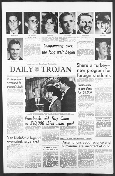 Daily Trojan, Vol. 58, No. 32, November 02, 1966