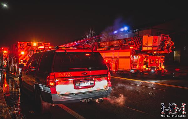 Detroit MI, Apartment Building Fire 1-10-2021