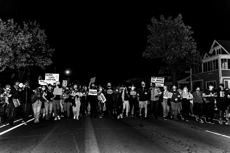 2020 10 07 Chauvin out of jail protest - BW-34.jpg