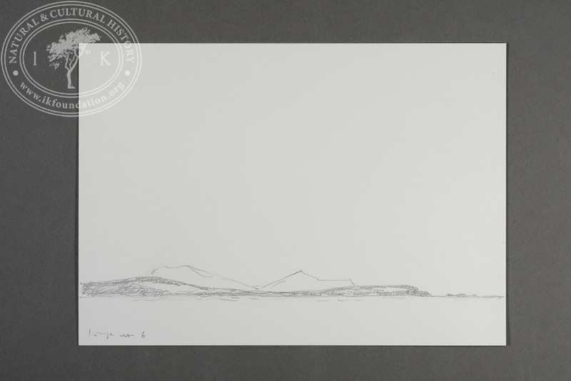 "Prins Karls Forland and Nordøya drawn from the zodiac positioned just north of Nordøya | 10.5.2019 |  ""I want to convey what I see with immediacy and simplicity to make the viewer feel present on the Arctic scene."" 