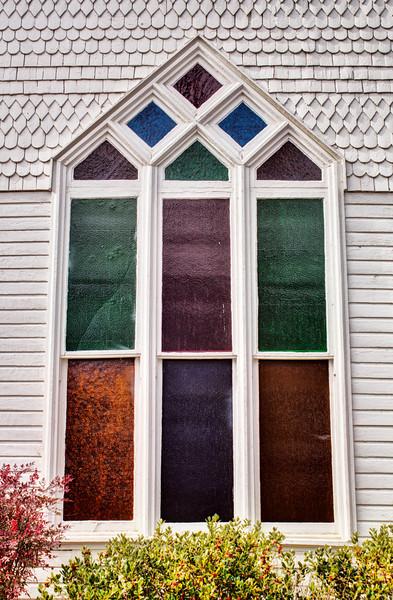 Window of First Presbyterian Church, De Queen, AR