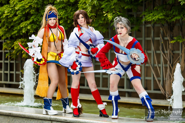 Thief Paine (Missyeru), Thief Rikku (AngieRikku), Thief Yuna (Komoriuta) from Final Fantasy X-2