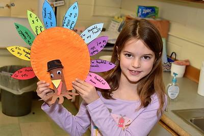 Second Grade Thankful Turkeys photos by Gary Baker
