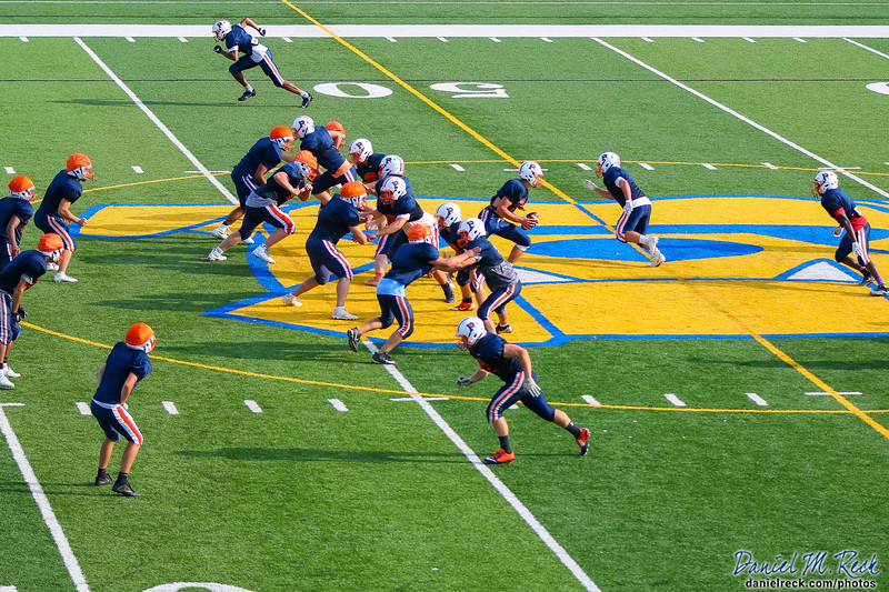 Chargers Football Practices at Kettering University's Atwood Stadium