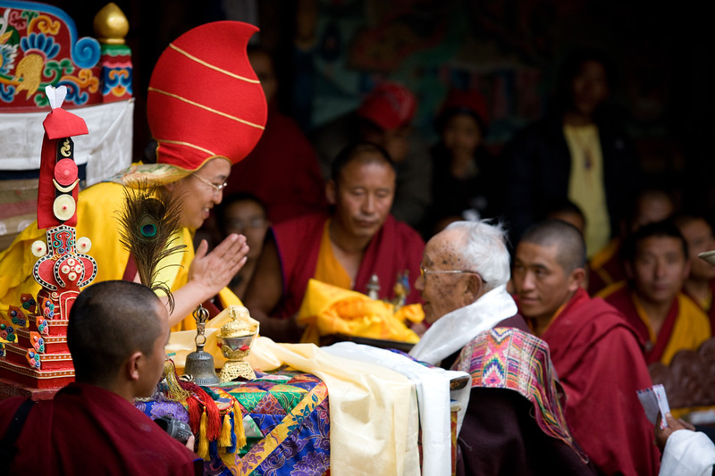 Mani Rimdu festival at Chiwong Monastery in Solu, Nepal.