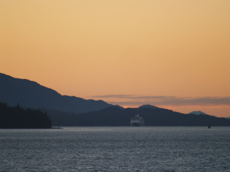 Sunset from the stern of the M/V Matanuska headed for Prince Rupert, BC