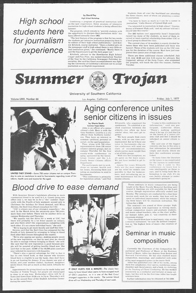 Summer Trojan, Vol. 72, No. 3, July 01, 1977
