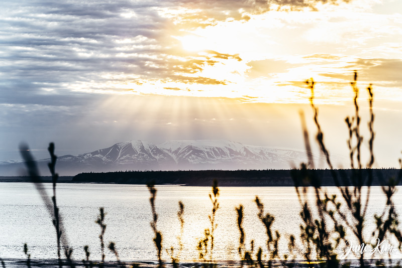 Sunset over Sleeping Lady (Mt. Susitna)