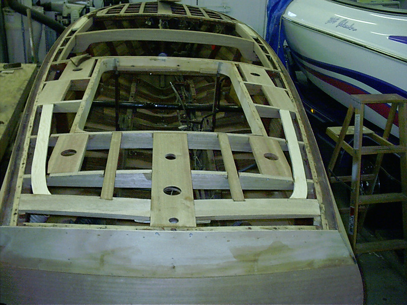 Rear deck framing again.