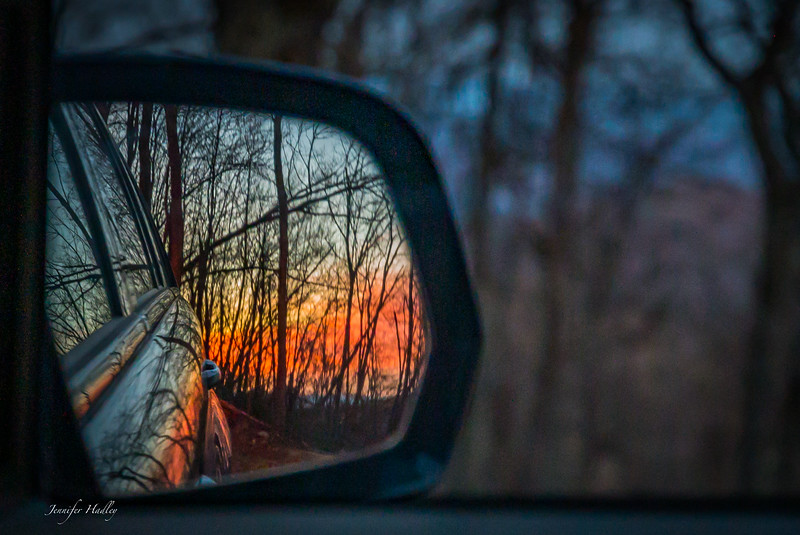 sunset in rearview.jpg