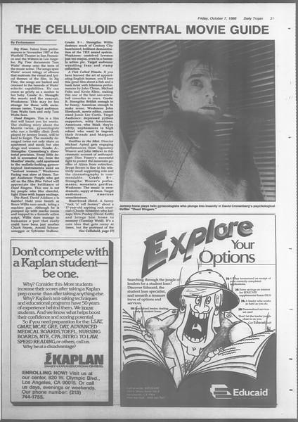 Daily Trojan, Vol. 107, No. 23, October 07, 1988
