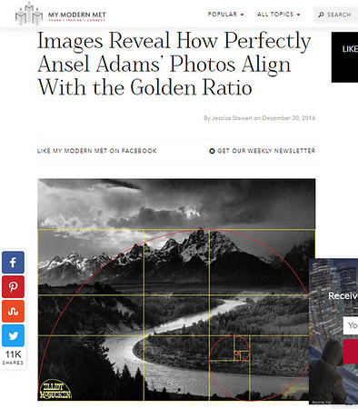 Dr. E's Ansel Adams Golden Ratio Insights featured at MyModernMet!