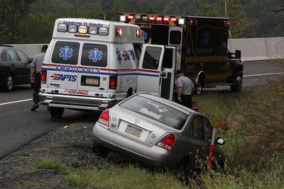 Car in Ditch, I81 Offramp, McAdoo (8-27-2012)
