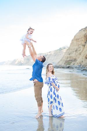 3+1 Maternity Baby Bump Photographs at Scripps Pier La Jolla - The Alfreds 08/16/2017