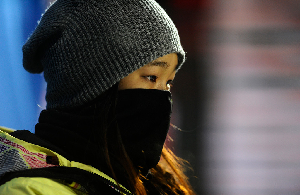 . Choe Kim wins gold in the Women\'s Snowboard Superpipe finals, Saturday January 24, Winter X Games 2015 on Buttermilk Mountain. At 14-years-old she is the youngest gold medalist in Winter X history.  (Photo By Mahala Gaylord/The Denver Post)