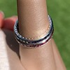 Art Deco Sapphire and Ruby Matched Bands, by Tiffany & Co 1