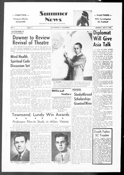 Summer News, Vol. 11, No. 5, July 09, 1956
