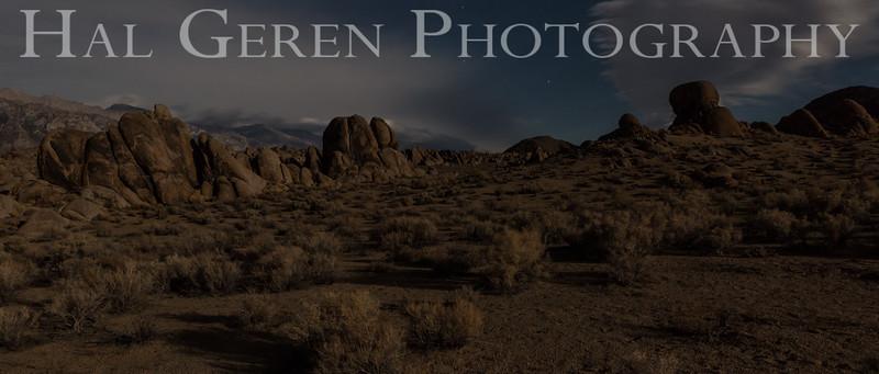 Moonlit Clouds Alabama Hills Lone Pine, California 1610S-AV2