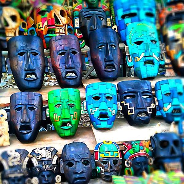Masks of Chichen Itza, Riviera Maya #WeVisitMexico