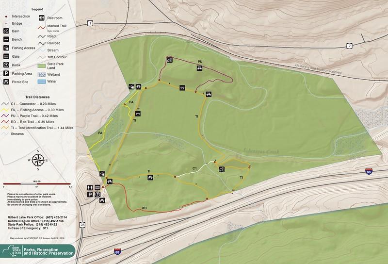 Robert V. Riddell State Park (Trail Map - North)