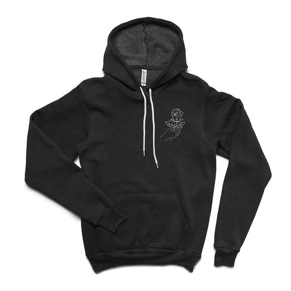 Organ Mountain Outfitters - Outdoor Apparel - Hooded Pullover - Desert Rose Hoodie - Black Front.jpg