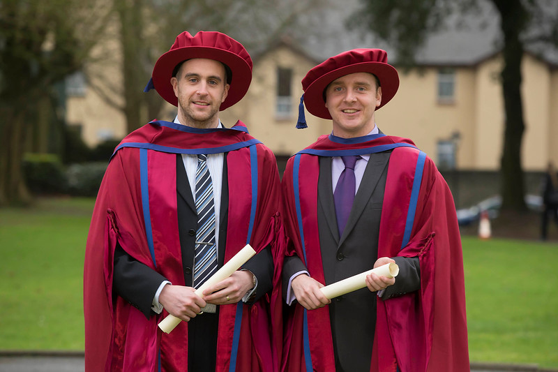 Pictured is Raymond Carroll, Kilkenny and Leigh Griffin Waterford who were conferred a Doctor of Philosophy. Picture: Patrick Browne.