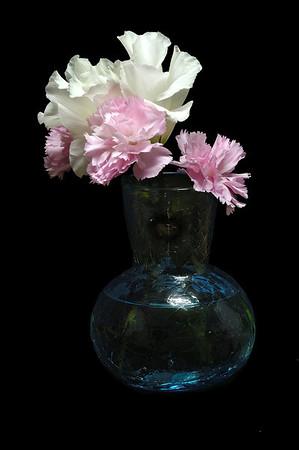 Study of a blue vase