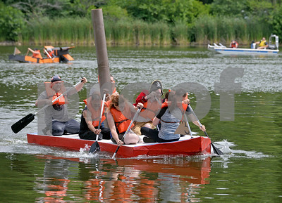 Glen Ellyn Park District's hosted the 23rd annual Lake Ellyn Cardboard Regatta