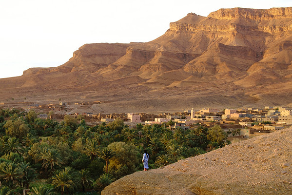 The Draa Valley Against a Moutain Background