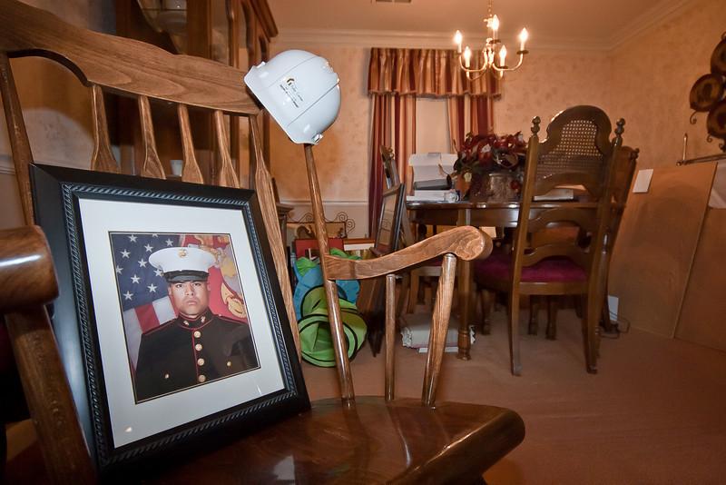 2011 02-03  Photo of Marine Joshua Himan in uniform. Trish Hamilton