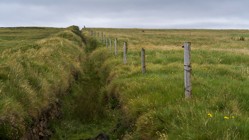 Fence in a field, Downpatrick Head, Killala, County Mayo, Ireland