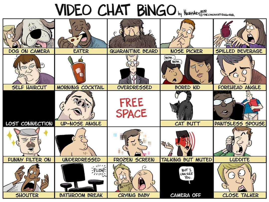 Video Chat Bingo
