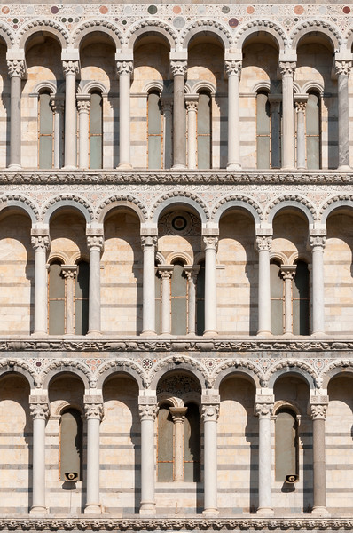 Facade Detail, Pisa Cathedral, Italy
