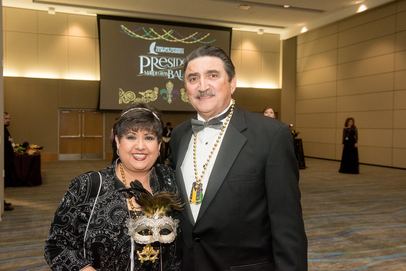Lucy and Herbert Rubio. Saturday February 25, 2017 at TAMU-CC during the annual President's Mardi Gras Ball.
