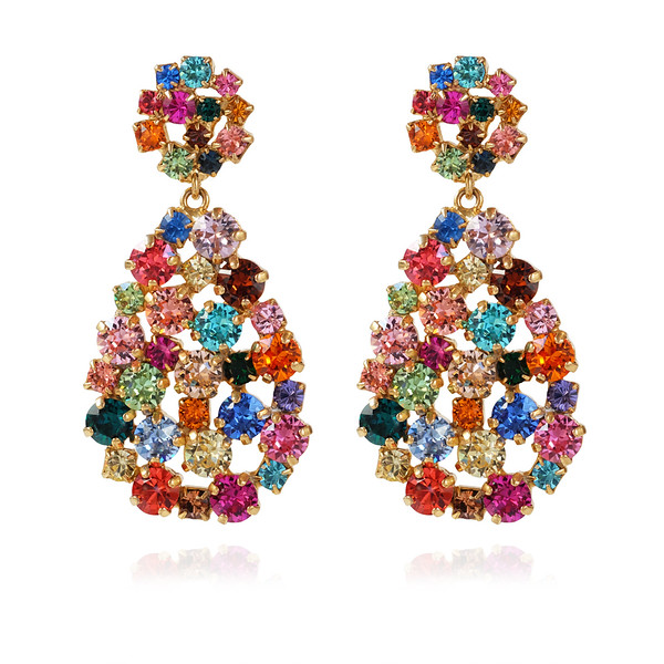 Hanna Earrings / Rainbow Combo Gold