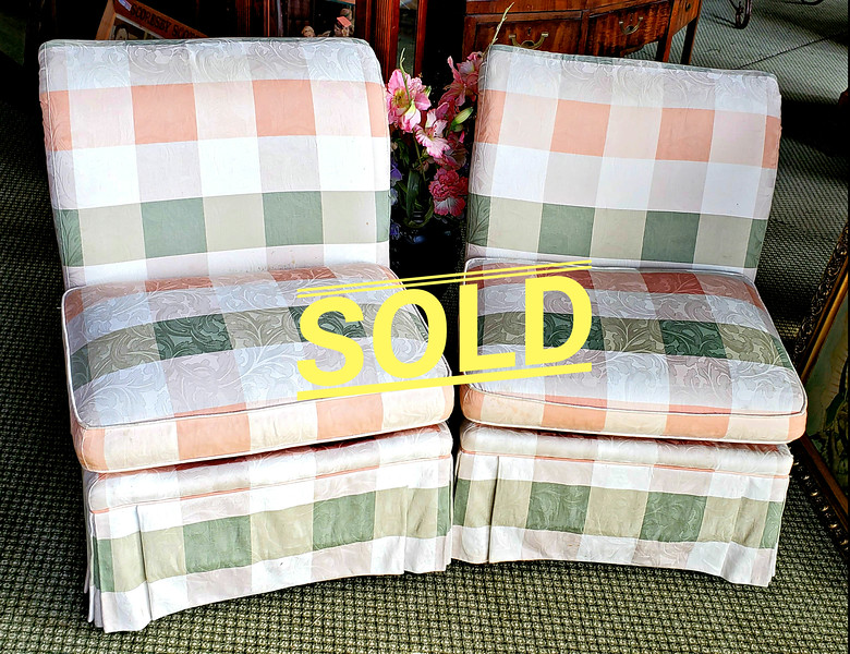 Plaid Accent Chairs