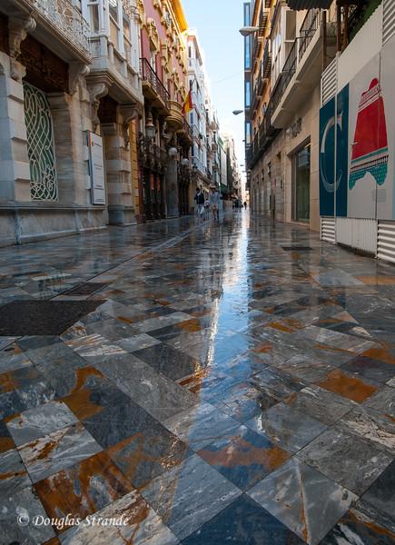 Cartagena, Spain - reflection on tiles